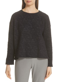 Eileen Fisher Boxy Organic Cotton Blend Top