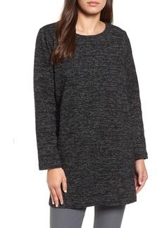 Eileen Fisher Boxy Organic Cotton Blend Tunic Sweater
