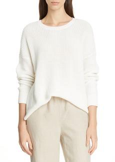 Eileen Fisher Boxy Organic Cotton Sweater (Regular & Petite)