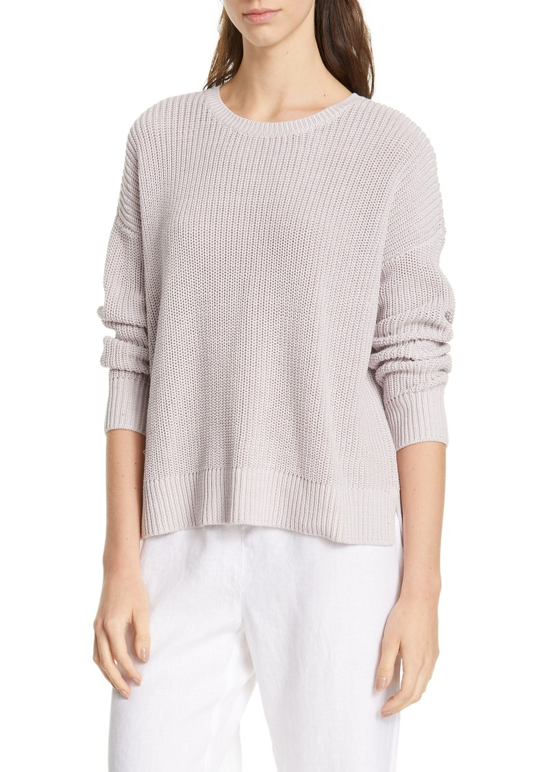 Eileen Fisher Boxy Organic Cotton Sweater (Regular & Petite)