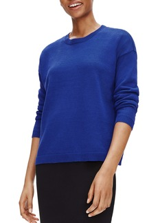 Eileen Fisher Boxy Organic Linen & Organic Cotton Sweater