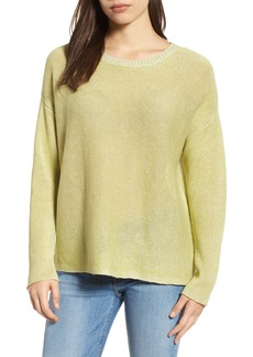 Eileen Fisher Boxy Organic Linen Sweater (Regular & Petite)