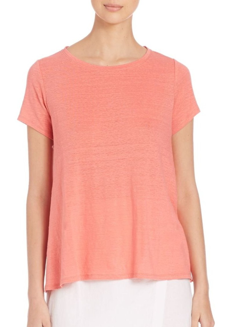 Eileen Fisher Boxy Organic Linen Top