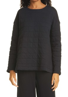 Eileen Fisher Boxy Quilted Top