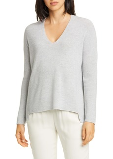 Eileen Fisher Boxy Shimmer Wool Blend Top