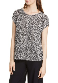 Eileen Fisher Boxy Short Sleeve Organic Cotton Sweater