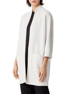 Eileen Fisher Boxy Silk & Organic Cotton Jacket