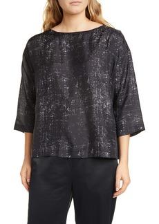 Eileen Fisher Boxy Silk Top