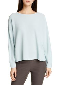 Eileen Fisher Boxy Tencel® Lyocell Blend Sweater