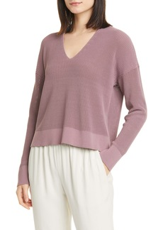 Eileen Fisher Boxy V-Neck Pullover