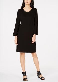 Eileen Fisher Tencel Bracelet-Sleeve Dress