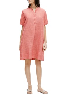 Eileen Fisher Button Down Organic Linen Shirtdress