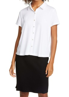 Eileen Fisher Button Front Knit Shirt