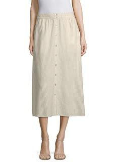 Eileen Fisher Button-Front Midi Skirt