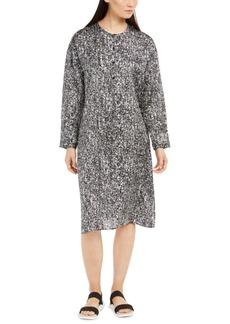 Eileen Fisher Button-Front Shift Dress