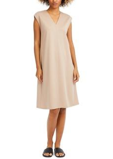 Eileen Fisher Cap-Sleeve Popover Dress