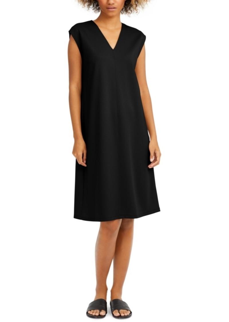 Eileen Fisher Cap-Sleeve Popover Dress, Regular & Petite Sizes