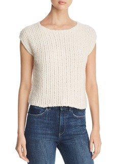 Eileen Fisher Cap-Sleeve Textured-Knit Top