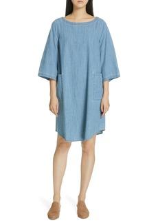 Eileen Fisher Chambray Shift Dress