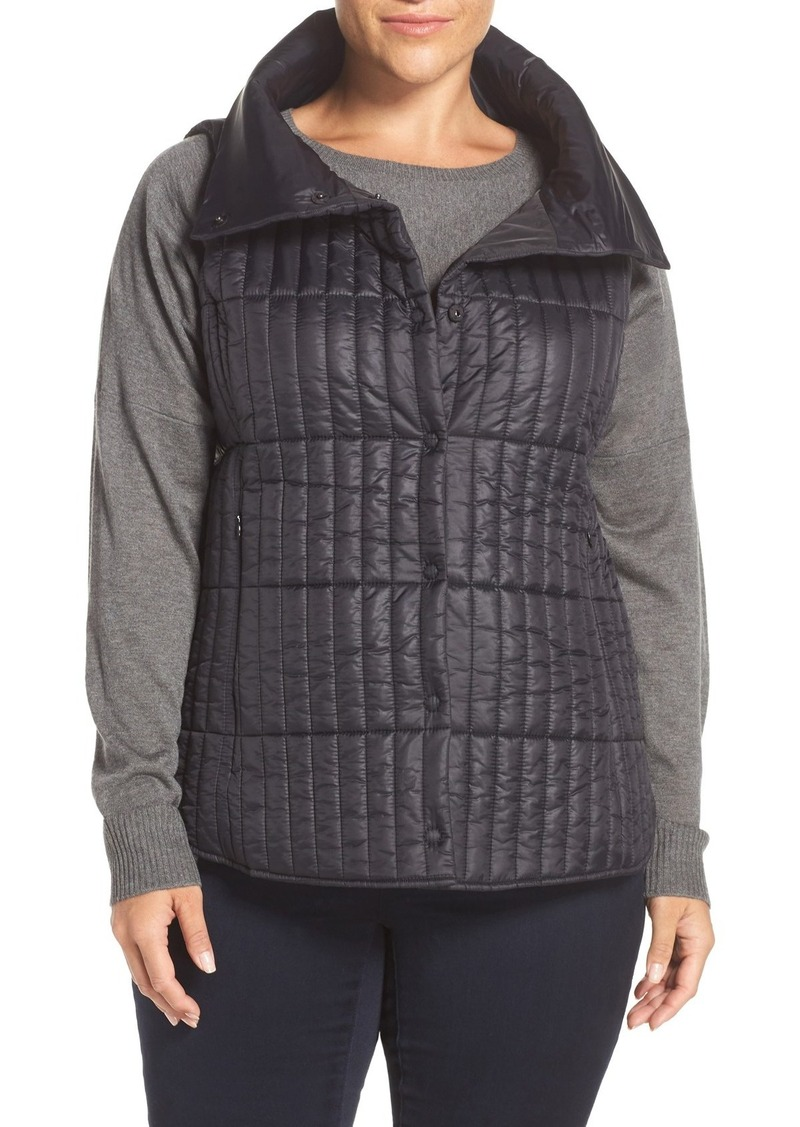 Eileen Fisher Channel Quilted Vest (Plus Size)
