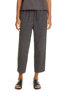 Eileen Fisher Check Slouchy Crop Pants (Regular & Petite)