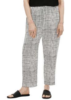 Eileen Fisher Check Slouchy Crop Pants (Regular & Petite)