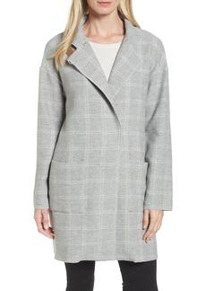 Eileen Fisher Check Tweed Coat