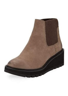 Eileen Fisher Chelsea Nubuck Wedge Bootie