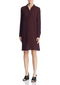 Eileen Fisher Classic & Crinkled Shirt Dress