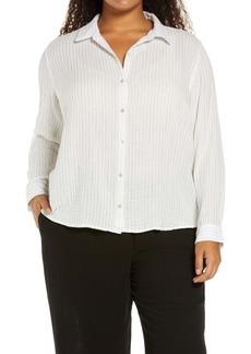 Eileen Fisher Classic Collar Button-Up Shirt