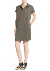 Eileen Fisher Classic Collar Knee Length Dress