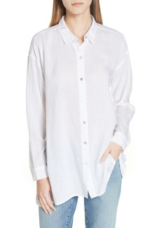 Eileen Fisher Classic Collar Notch Shirt