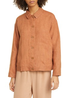 Eileen Fisher Classic Collar Organic Linen Jacket (Regular & Petite)