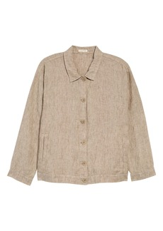 Eileen Fisher Classic Collar Organic Linen Jacket (Regular & Petite)