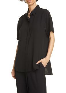 Eileen Fisher Classic Collar Silk Shirt