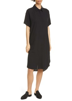 Eileen Fisher Classic Collar Silk Shirtdress
