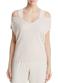 Eileen Fisher Cold Shoulder Knit Top - 100% Exclusive