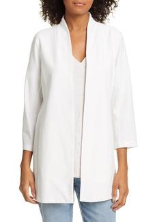 Eileen Fisher Collarless Long Jacket (Regular & Petite)