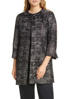 Eileen Fisher Collarless Open Front Coat