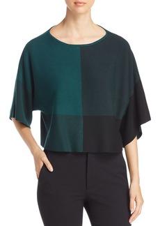 Eileen Fisher Color Block Crop Sweater