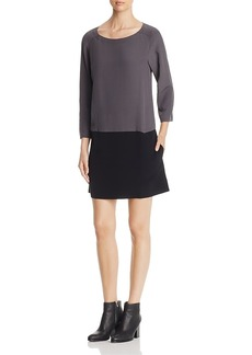 Eileen Fisher Color-Block Shift Dress