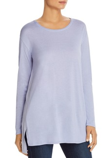 Eileen Fisher Color-Block Silk Tunic Top