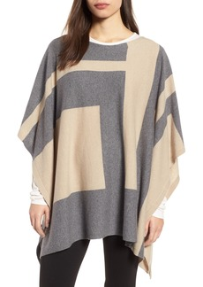 Eileen Fisher Colorblock Cashmere Blend Poncho