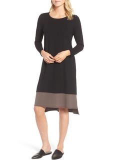 Eileen Fisher Colorblock Jersey Shift Dress