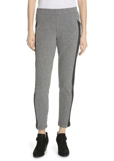 Eileen Fisher Colorblock Knit Slim Ankle Pants