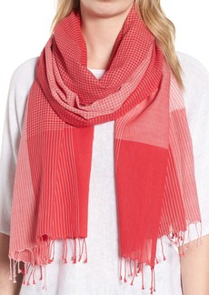 Eileen Fisher Colorblock Organic Cotton Scarf