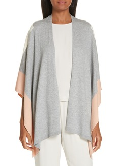 Eileen Fisher Colorblock Poncho Wrap
