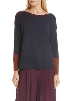 Eileen Fisher Colorblock Tencel® Lyocell Blend Sweater
