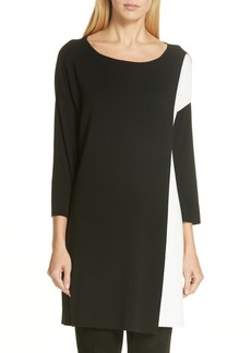 Eileen Fisher Colorblock Tencel® Lyocell Sweater Dress (Regular & Petite)