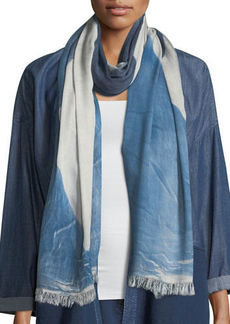 Eileen Fisher Colorfields Maltinto Fringed-End Scarf